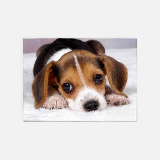 Cute Puppy 5'x7'Area Rug