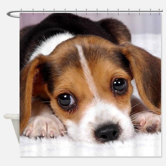 Cute Puppy Shower Curtain