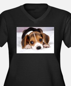 Cute Puppy Plus Size T-Shirt