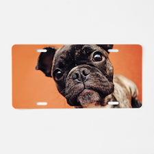 Bulldog Puppy Aluminum License Plate
