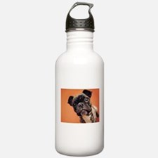 Bulldog Puppy Sports Water Bottle