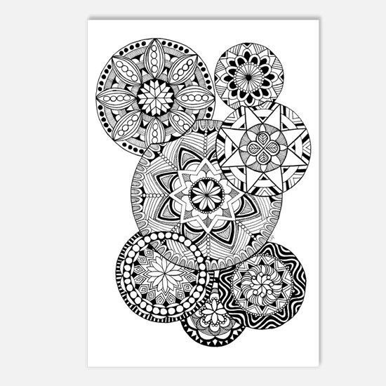 Zen circles 01 Postcards (Package of 8)