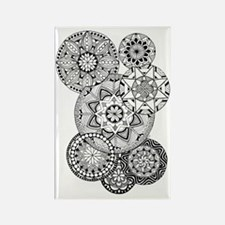 Zen circles 01 Rectangle Magnet