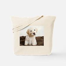 Cute Golden Retriever Puppy Tote Bag