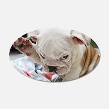 Funny English Bulldog Puppy Wall Sticker