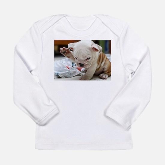 Funny English Bulldog Puppy Long Sleeve T-Shirt