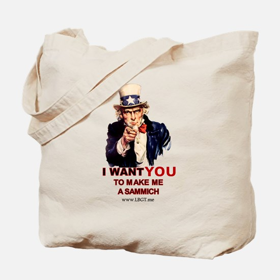 Unique I want you to speak english Tote Bag