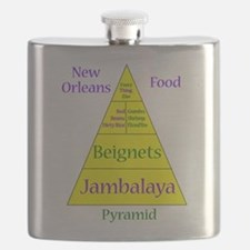 New Orleans Food Pyramid Flask