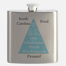 South Carolina Food Pyramid Flask
