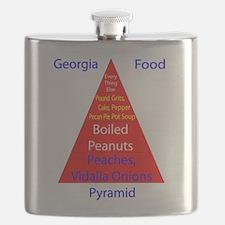 Georgia Food Pyramid Flask