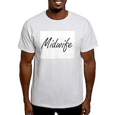 Midwife Artistic Job Design T-Shirt