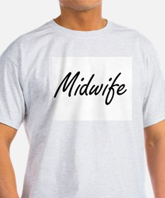 Midwife Artistic Job Design T-Shirt