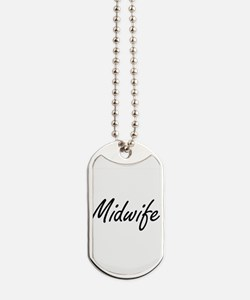Midwife Artistic Job Design Dog Tags