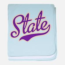 Minnesota State Script Font baby blanket