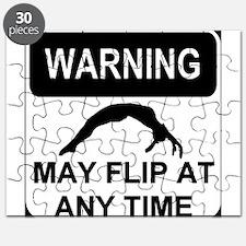 Warning may flip gymanstics Puzzle