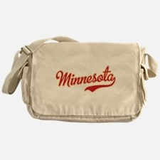 Minnesota Script Crimson and Gold Messenger Bag