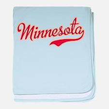 Minnesota Script Crimson and Gold baby blanket