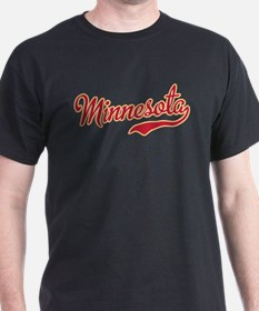 Minnesota Script Crimson and Gold T-Shirt