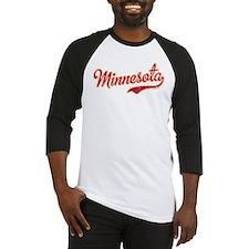 Minnesota Script Crimson and Gold Baseball Jersey