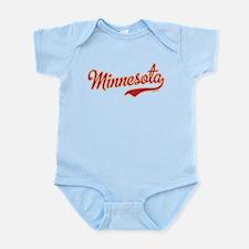 Minnesota Script Crimson and Gold Infant Bodysuit