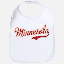 Minnesota Script Crimson and Gold Bib