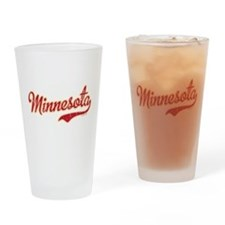 Minnesota Script Crimson and Gold Drinking Glass