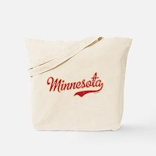 Minnesota Script Crimson and Gold Tote Bag