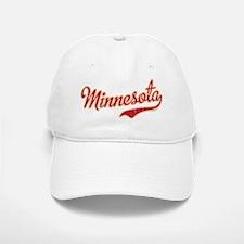 Minnesota Script Crimson and Gold Baseball Baseball Cap