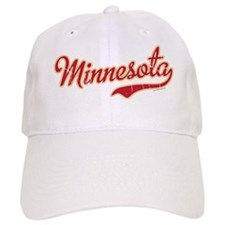 Minnesota Script Crimson and Gold Baseball Cap