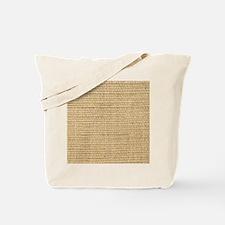 rustic western country beige burlap Tote Bag