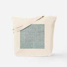 shabby chic beach teal burlap Tote Bag