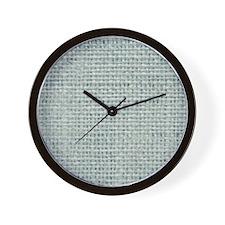 shabby chic beach teal burlap Wall Clock