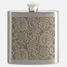 western country floral lace Flask