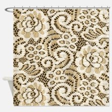 western country floral lace Shower Curtain