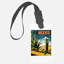 Vintage Mexico Travel ~ Village Luggage Tag