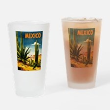 Vintage Mexico Travel ~ Village Drinking Glass