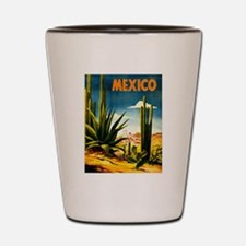Vintage Mexico Travel ~ Village Shot Glass