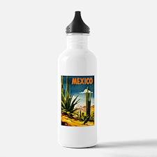Vintage Mexico Travel ~ Village Water Bottle