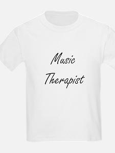 Music Therapist Artistic Job Design T-Shirt