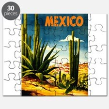 Vintage Mexico Travel ~ Village Puzzle