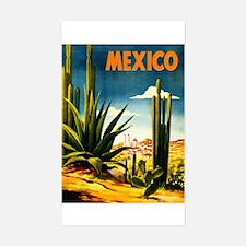 Vintage Mexico Travel ~ Village Decal