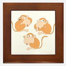 The three wise monkeys Framed Tile