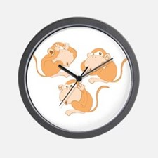 The three wise monkeys Wall Clock