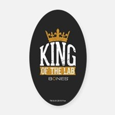 Bones King of the Lab Oval Car Magnet