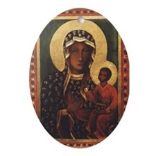 Black Madonna Oval Ornament