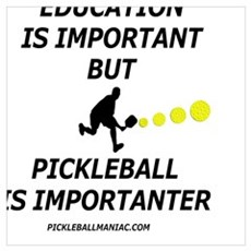 Pickleball is Importanter Canvas Art