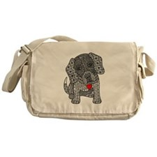 Zentangled beagle Messenger Bag