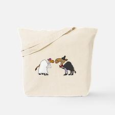 Funny Camel Bride and Groom Wedding Tote Bag
