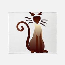 Unique Siamese cat Throw Blanket
