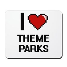 I love Theme Parks digital design Mousepad